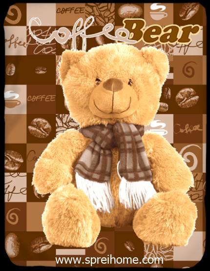 toko grosir murah Selimut Kendra Coffee-Bear