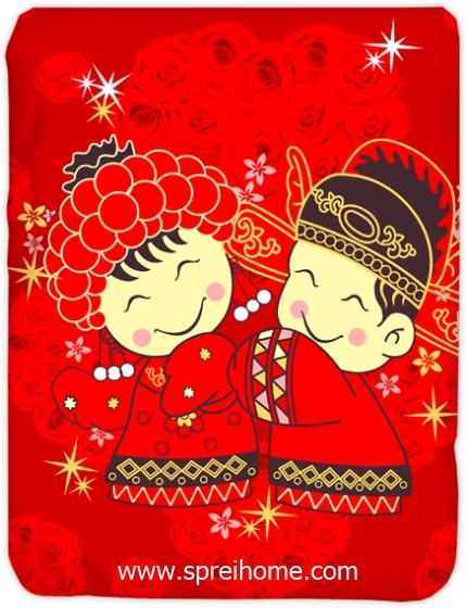 toko grosir murah Selimut Kendra Royal-Wedding