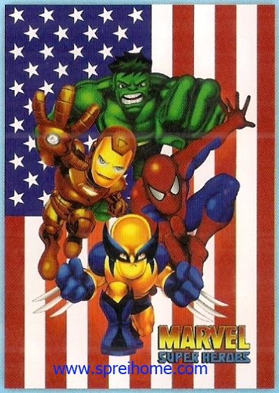toko selimut murah Rosanna Super Heroes