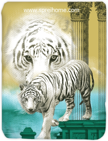 toko grosir murah Selimut Kendra White-Tiger