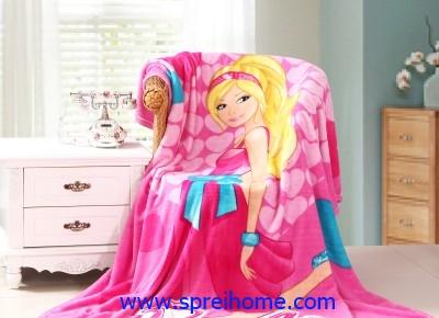 jual grosir murah Selimut kintakun Barbie