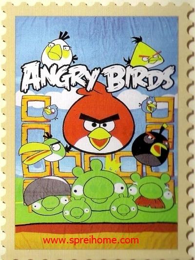 jual grosir murah  Selimut Internal Angrybirds