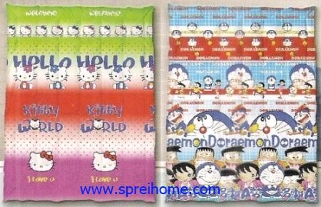 toko grosir murah Selimut Ananda E Hello Kitty - Doraemon