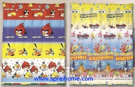 toko grosir murah Selimut Ananda F Angry Birds - Spongebob