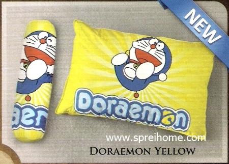 bantal selimut murah Balmut Ilona Doraemon Yellow