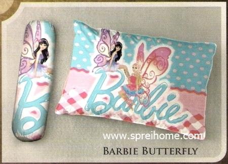bantal selimut murah Balmut Ilona Barbie Butterfly