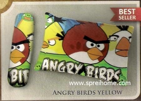 bantal selimut murah Balmut Ilona Angry Birds Yellow