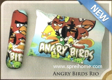 bantal selimut murah Balmut Ilona Angry Birds Rio