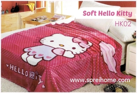 grosir murah Selimut Blossom HK02 Soft Hello Kitty