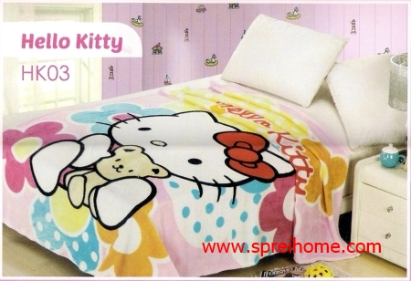 grosir murah  Selimut Blossom HK03 Hello Kitty