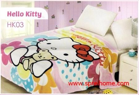 grosir murah  Selimut Blossom HK03 Hello Kitty