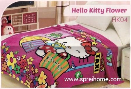 grosir murah Selimut Blossom HK04 Hello Kitty Flower