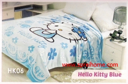 grosir murah Selimut Blossom HK06 Hello Kitty Blue
