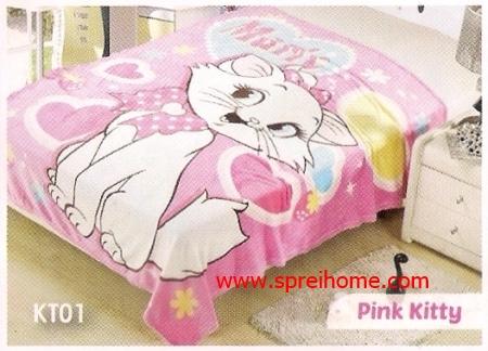 grosir murah Selimut Blossom KT01 Pink Kitty