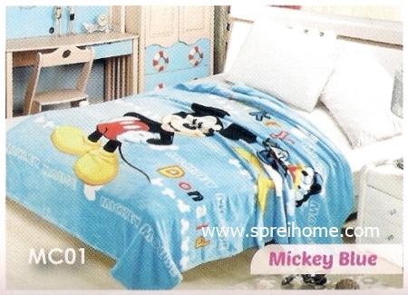 toko grosir murah Selimut Blossom MC01 Mickey Blue