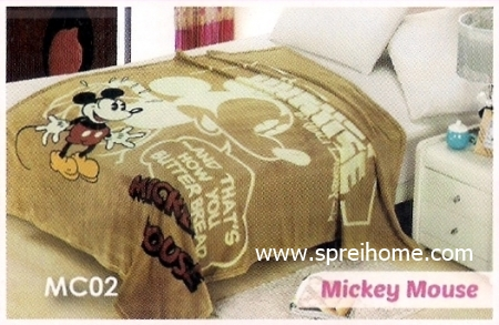 toko grosir murah Selimut Blossom MC02 Mickey Mouse