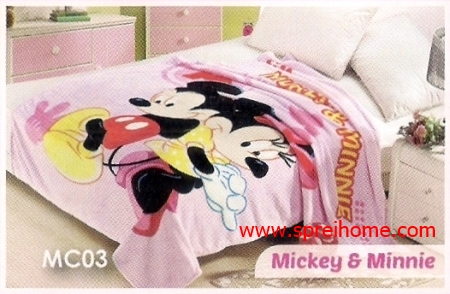toko grosir murah Selimut Blossom MC03 Mickey Minnie