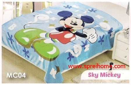 toko grosir murah Selimut Blossom MC04 Sky Mickey