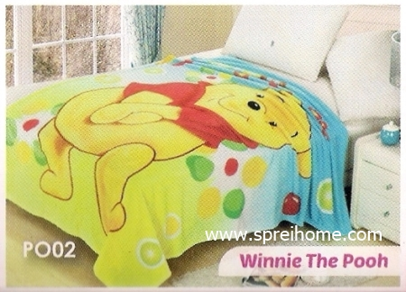 grosir murah Selimut Blossom PO02 Winnie The Pooh