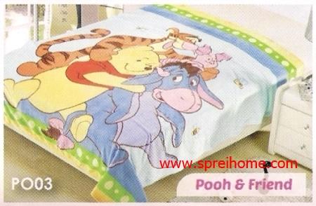 grosir murah Selimut Blossom PO03 Pooh n Friend