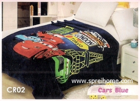 55 Selimut Blossom CR02 Cars Blue