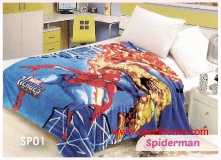 grosir murah Selimut Blossom SP01 Spiderman