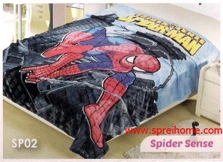 grosir murah Selimut Blossom SP02 Spider Sense