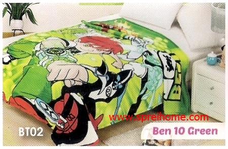 grosir murah Selimut Blossom BT02 Ben 10 Green