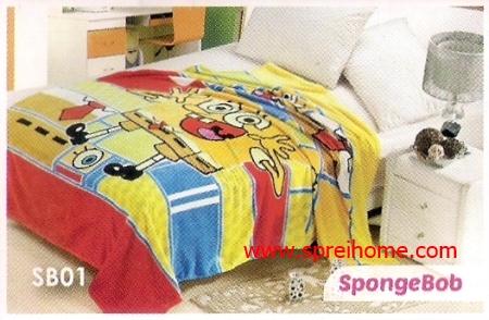 grosir murah Selimut Blossom SB01 Spongebob