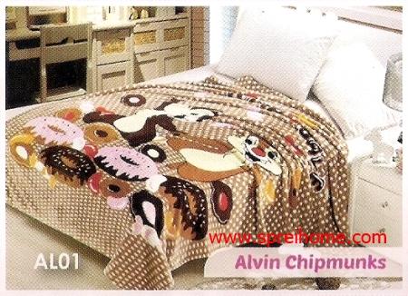 grosir murah Selimut Blossom AL01 Alvin Chipmunks