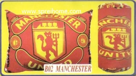 grosir murah bantal selimut Balmut Chelsea B02 Manchester United