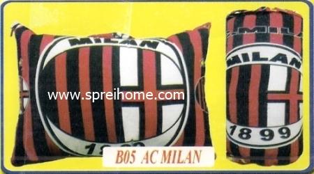 grosir murah bantal selimut Balmut Chelsea B05 AC Milan