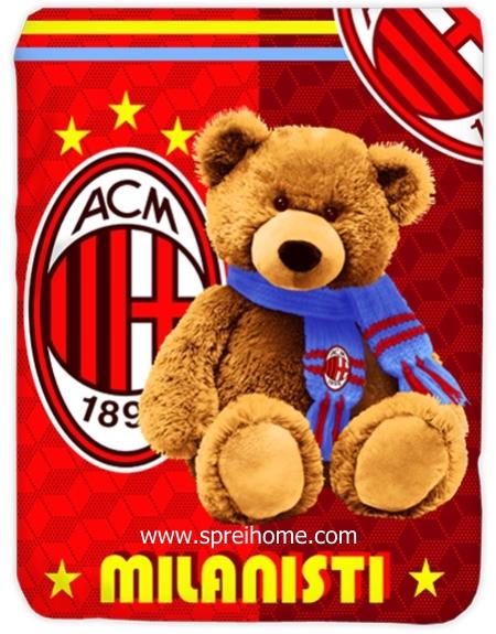 toko grosir Selimut Kendra AC-Milan-Bear