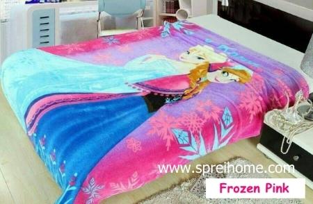 gudang Selimut Blossom Frozen Pink