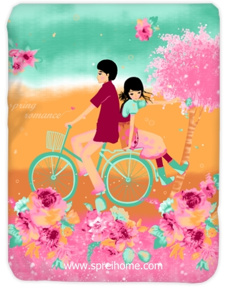 toko grosir murah Selimut Kendra Spring-Romance