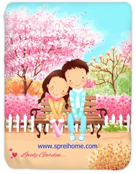 toko grosir murah Selimut Kendra Lovely-Garden