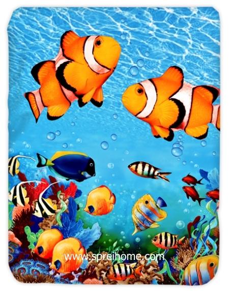jual murah Selimut Kendra Coral-Fish