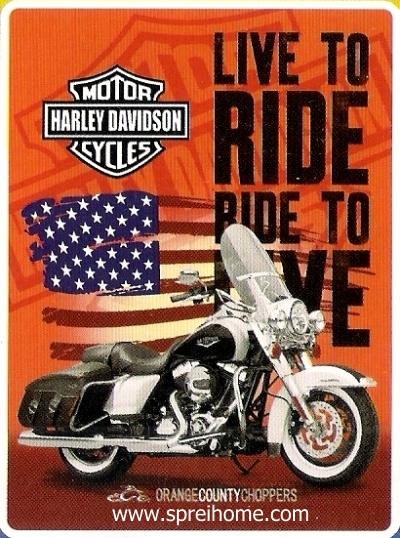 06 Selimut murah Rosanna Sutra Harley Davidson