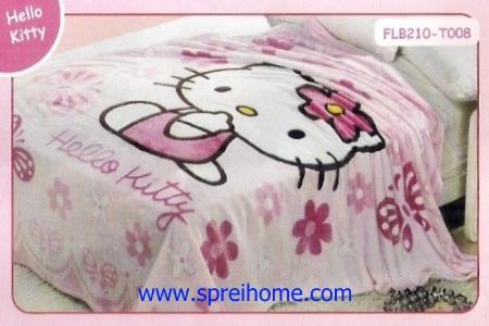 11 Selimut bayi lembut Blossom Hello Kitty
