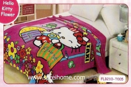 12 Selimut bayi lembut Blossom Hello Kitty Flower