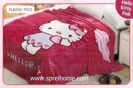 13 Selimut bayi lembut Blossom Hello Kitty Pink