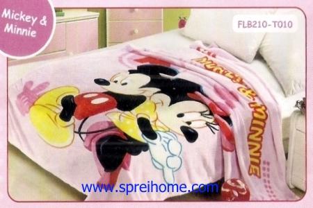 14 Selimut bayi lembut Blossom Mickey Minnie