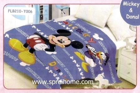 16 Selimut bayi lembut Blossom Mickey Donald