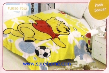 18 Selimut bayi lembut Blossom Pooh Soccer