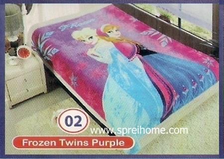 toko grosir Selimut Rossinni Frozen Twin Purple