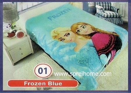 toko grosir Selimut Rossinni Frozen Blue