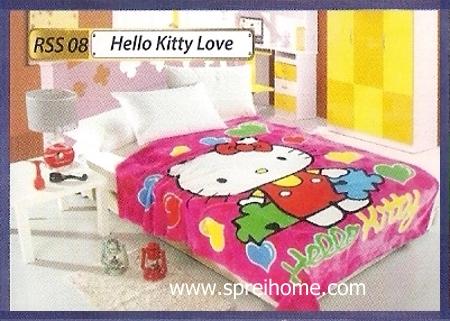 toko grosir Selimut Rossinni Hello Kitty Love