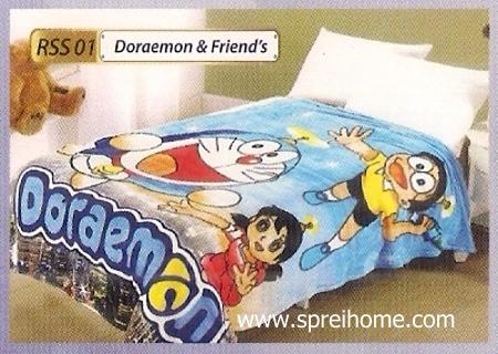 toko grosir Selimut Rossinni Doraemon Friend