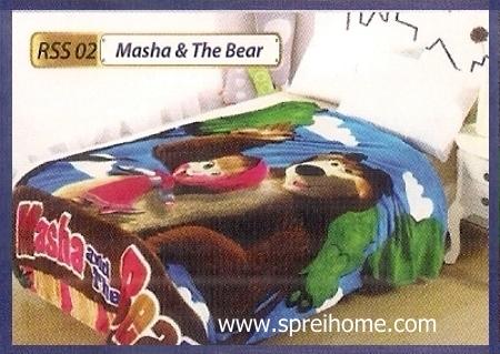 toko grosir Selimut Rossinni Masha n The Bear