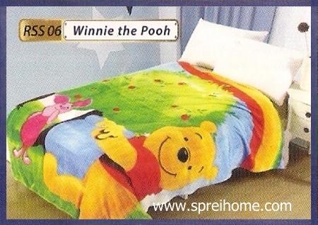 toko grosir Selimut Rossinni Winnie The Pooh